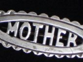 Silver Mother Brooch - 1900 - 1920's Era (sold)